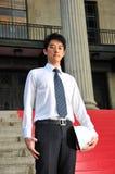 1个亚洲工程师年轻人 库存图片