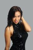 1个亚裔美丽的调情的女孩 免版税库存图片