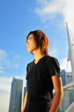 1个亚洲青年时期 库存图片