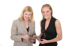1个企业小组二妇女 免版税库存照片