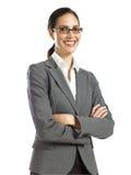 1个企业确信的妇女年轻人 库存图片