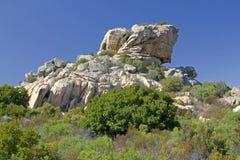 1个侵蚀岩石 图库摄影