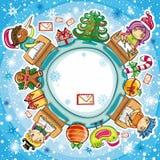 1个信函圣诞老人系列 库存图片