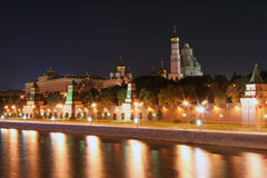 1个克里姆林宫莫斯科晚上 免版税库存图片