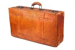 1个减速火箭的手提箱 免版税库存照片