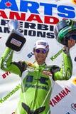 1个加拿大冠军可能零件舍入superbike 免版税库存照片