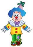 1个动画片小丑图象 免版税库存照片