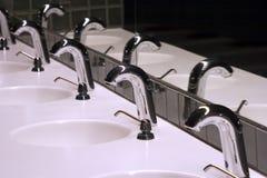 1个卫生间水槽 库存照片