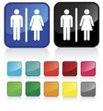 1个卫生间符号 库存照片