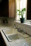 1个厨房水槽 免版税库存图片