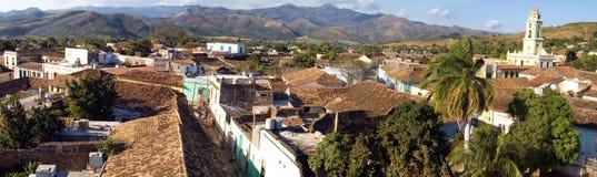 1个古巴老全景城镇特立尼达 库存图片