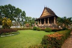 1个古老老挝寺庙 免版税库存照片