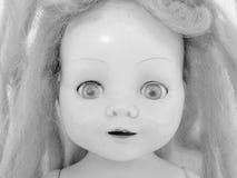 1个古色古香的玩偶表面 库存照片