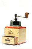 1个古色古香的磨咖啡器 免版税库存照片