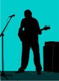 1个吉他弹奏者 免版税库存照片