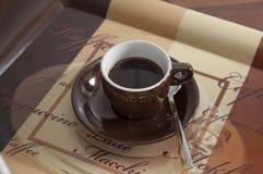 1个咖啡杯 免版税库存照片