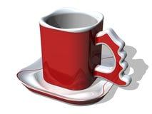 1个咖啡杯s圣诞老人 皇族释放例证