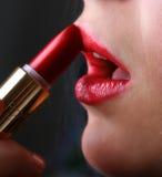 1个唇膏红色 免版税库存照片