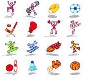 1个图标被设置的体育运动 库存照片
