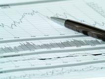 1个图表股票 免版税图库摄影