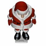 1个圣诞老人缩放比例 库存例证