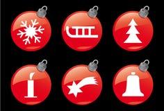 1个圣诞节图标冬天 皇族释放例证