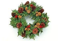 1个圣诞节花圈 免版税库存图片
