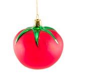1个圣诞节装饰品蕃茄 免版税库存图片