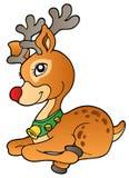 1个圣诞节驯鹿年轻人 库存照片
