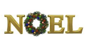 1个圣诞节noel花圈 免版税库存图片