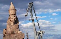 1个埃及狮身人面象 图库摄影