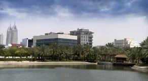 1个城市迪拜媒体阶段 库存图片