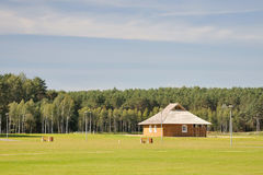 1个城市drushkininkai横向立陶宛公园 库存照片