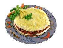 1个墨西哥栈玉米饼 免版税库存图片