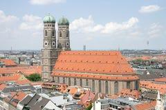 1个大教堂夫人我们的慕尼黑 免版税库存照片
