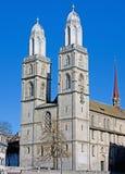 1个大教堂苏黎世 免版税库存图片