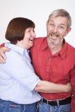 1个夫妇前辈 免版税图库摄影