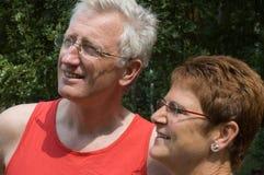 1个夫妇愉快的前辈 图库摄影