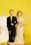1个夫妇老婚礼 图库摄影