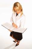 1个女商人 免版税库存照片