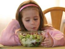 1个女孩蔬菜 库存照片