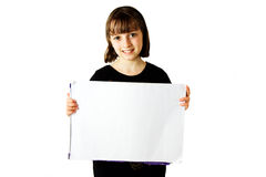 1个女孩藏品符号 库存图片