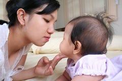 1个小母亲 图库摄影