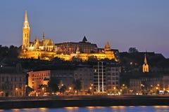 1个布达佩斯晚上场面 库存照片