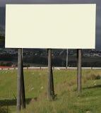 1个广告牌空白 库存图片