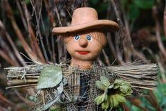 1个微型稻草人 免版税图库摄影