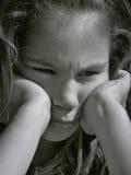 1个恼怒的女孩 免版税库存图片