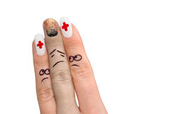1个手指显示 免版税库存图片