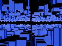 1个抽象背景城市 皇族释放例证