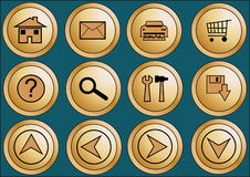 1个按钮万维网 免版税图库摄影
